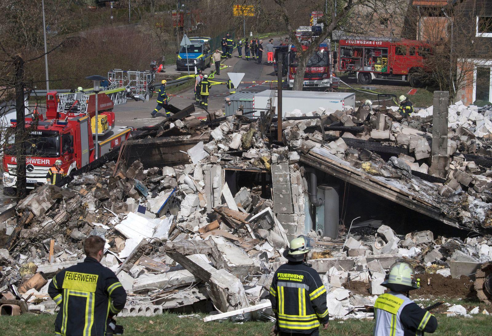 Haus in Südhessen explodiert