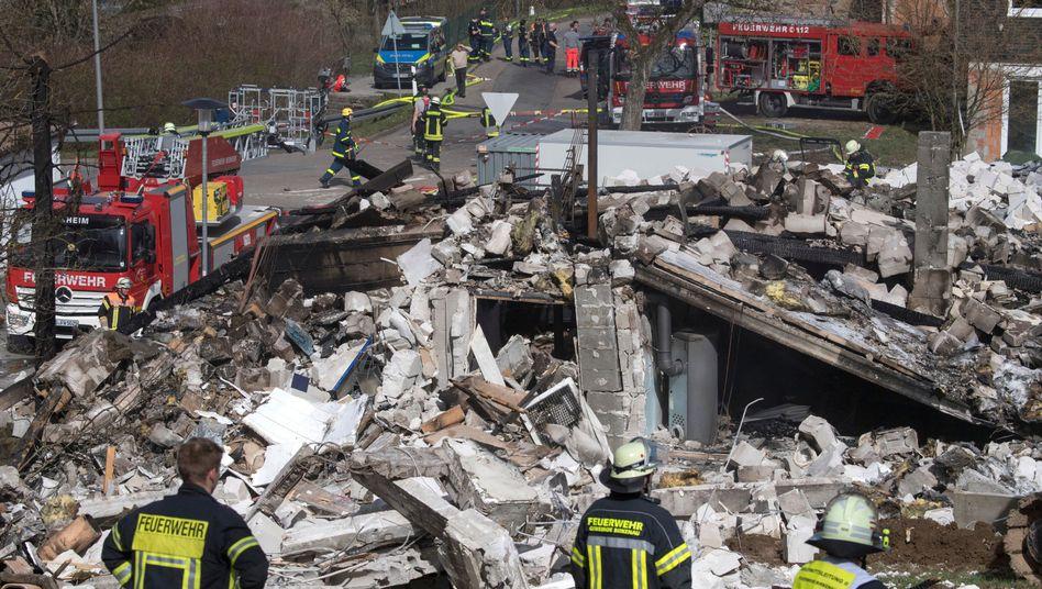 Ein Trümmerhaufen: Zerstörtes Gebäude in Birkenau
