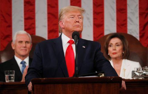 US-Präsident Trump bei seiner Rede zur Lage der Nation