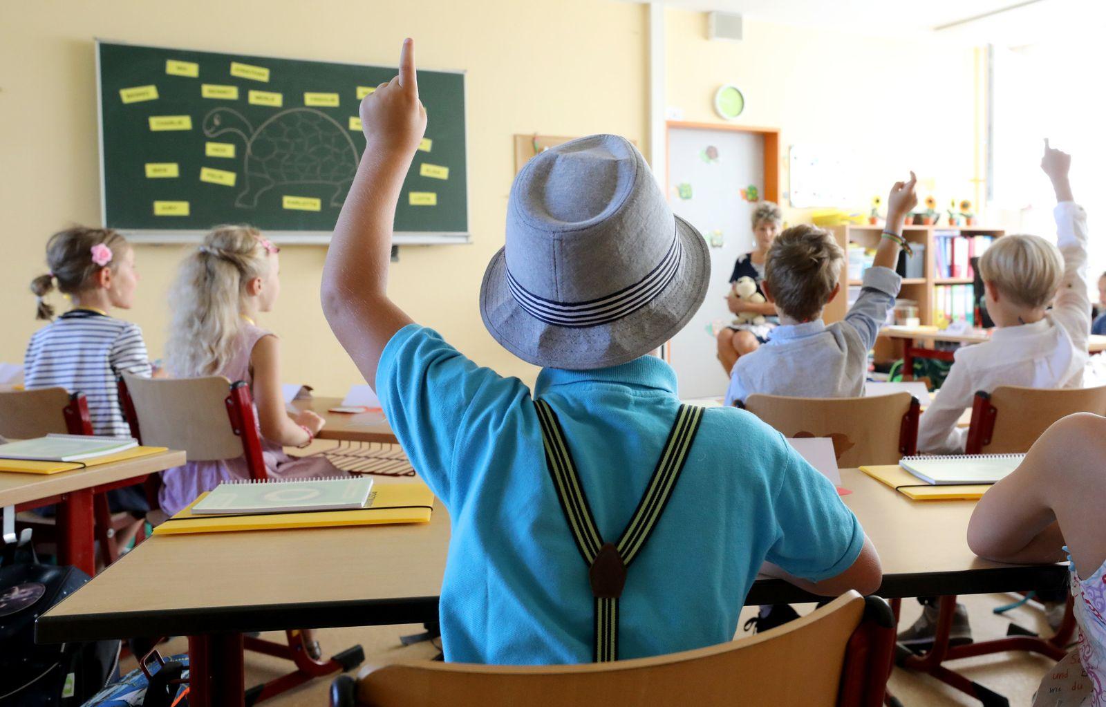 Schüler im Unterricht / Lehrer / AFD