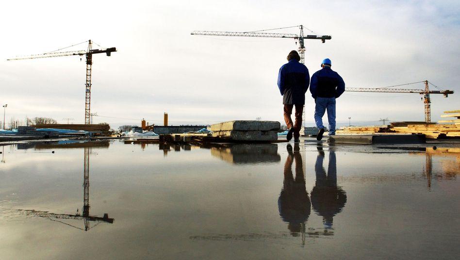 Baustelle in Frankfurt/Oder: Schwaches Wachstum in Europa