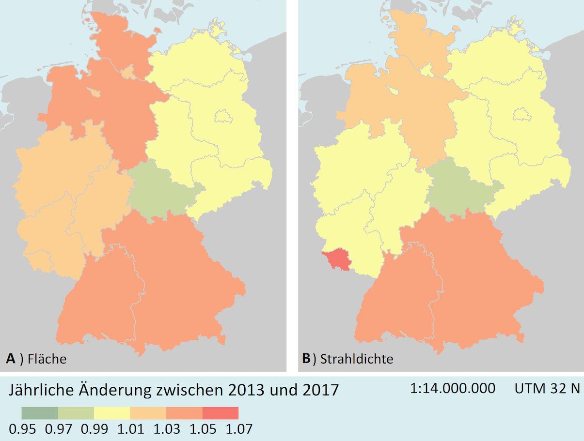 Deutschlands Nächte / Karte
