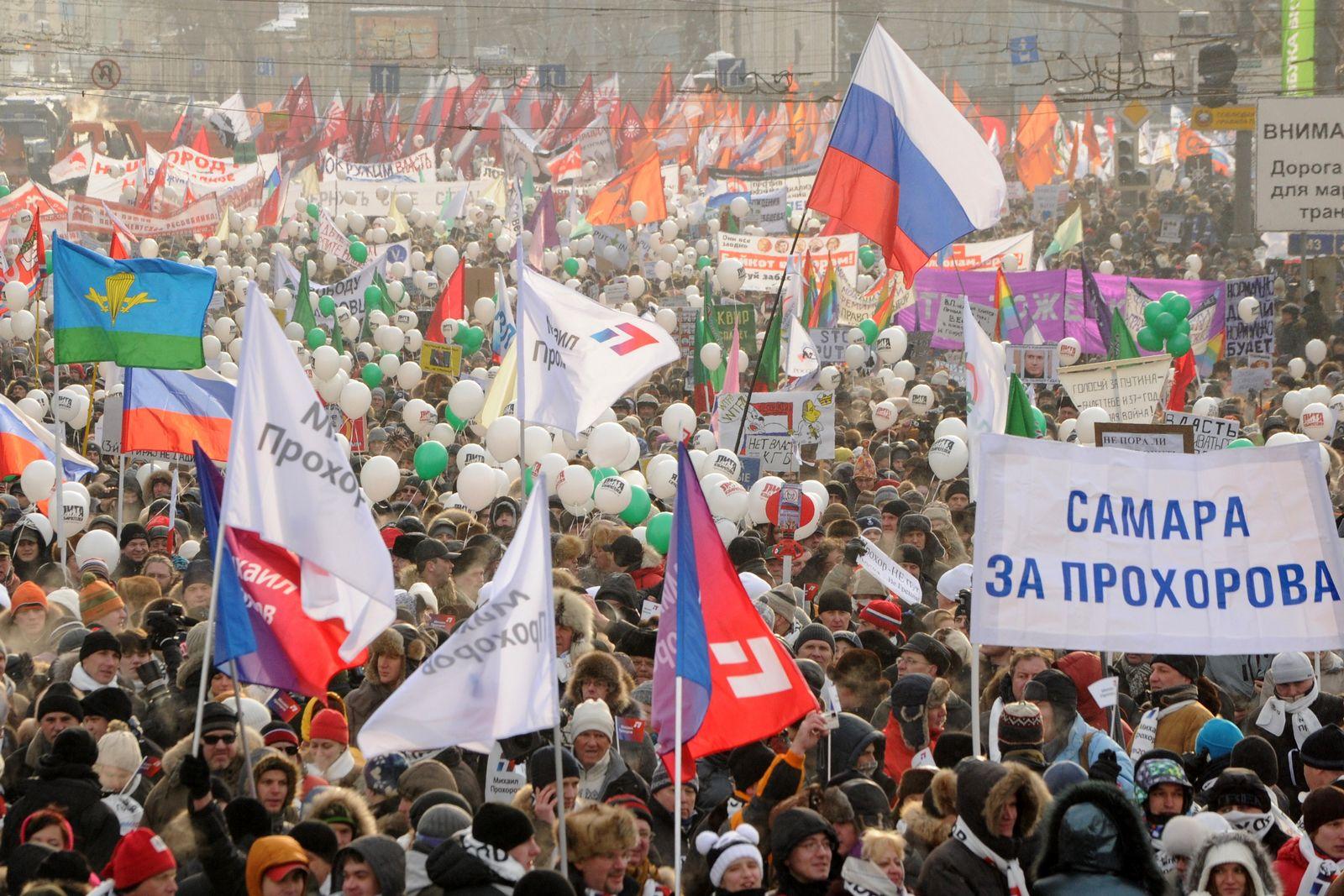 Russland / Moskau / Proteste
