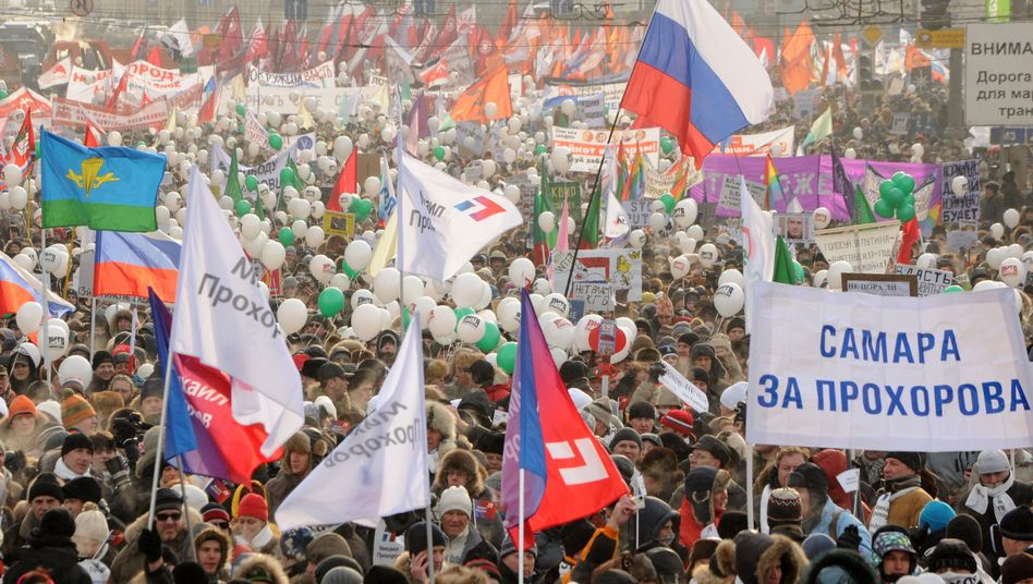 An anti-Putin demonstration in Moscow in early February.