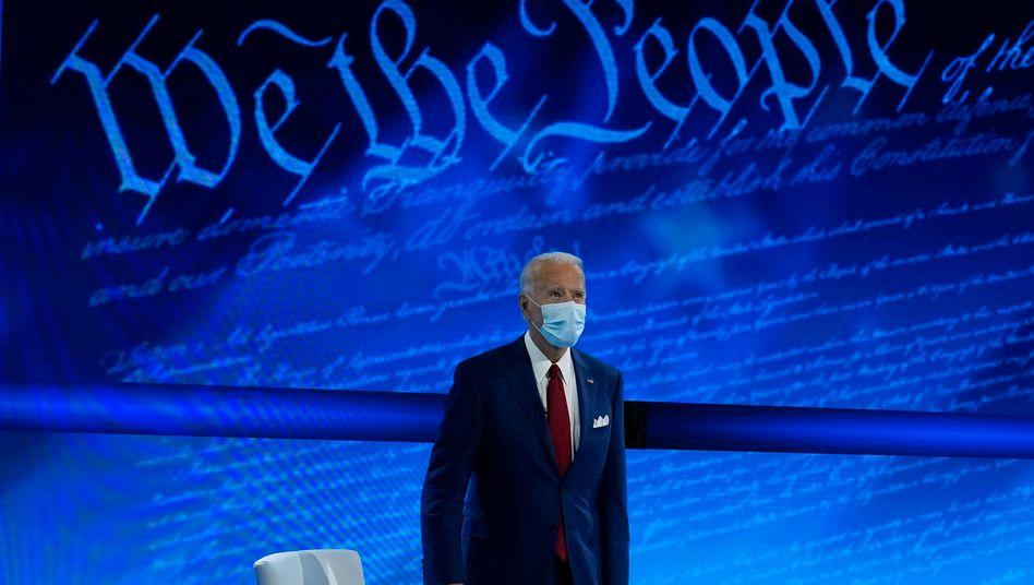 US-Präsidentschaftskandidat Joe Biden beim Townhall-Termin auf ABC