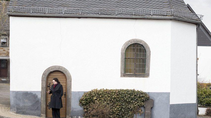 Andrea Nahles, Generalsekretärin der SPD, in ihrem Heimatdorf Weiler in der Eifel