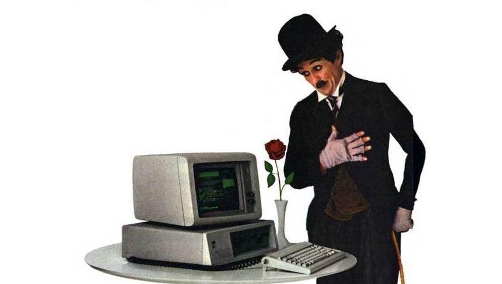 IBM-PC: Charlie Chaplin, Computerverkäufer