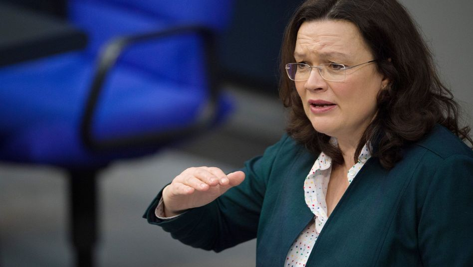 Bundesarbeitsministerin Andrea Nahles