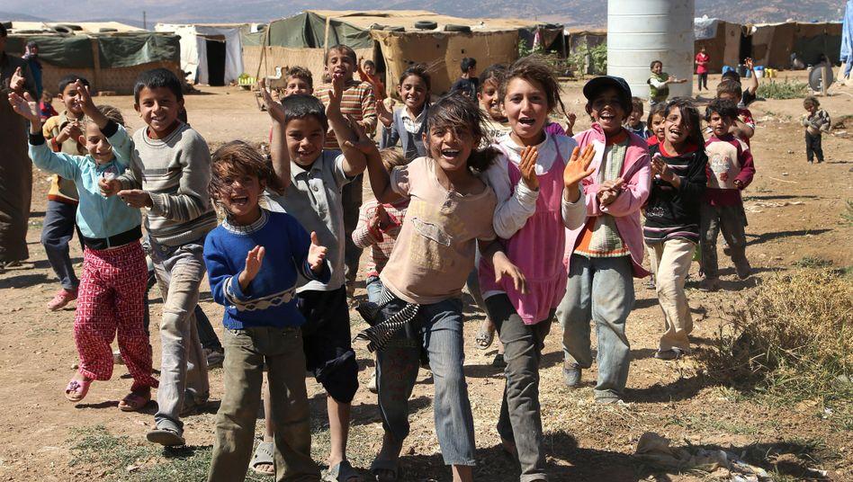 Kinder im UNHCR-Camp im Libanon: Finanzielle Unterstützung aus Deutschland
