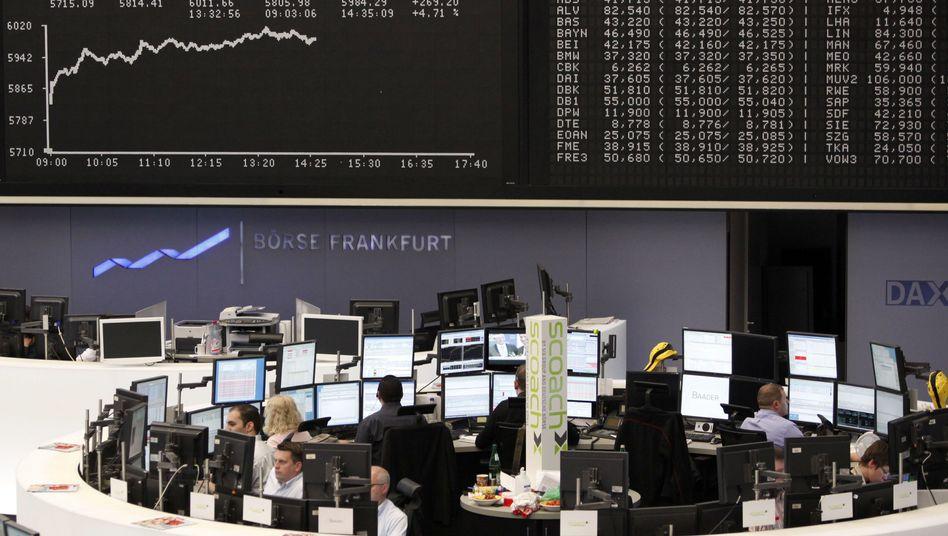 Frankfurter Börse am Montag: Der Dax ist deutlich im Plus