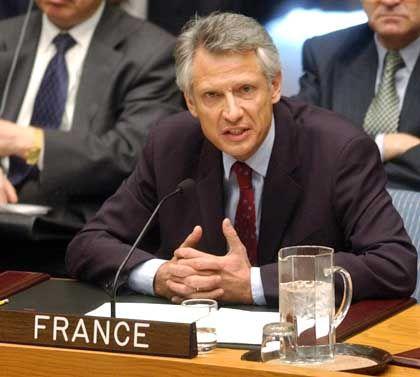 Kokettiert mit der Souveränität: Der französische Uno-Botschafter Dominique de Villepin