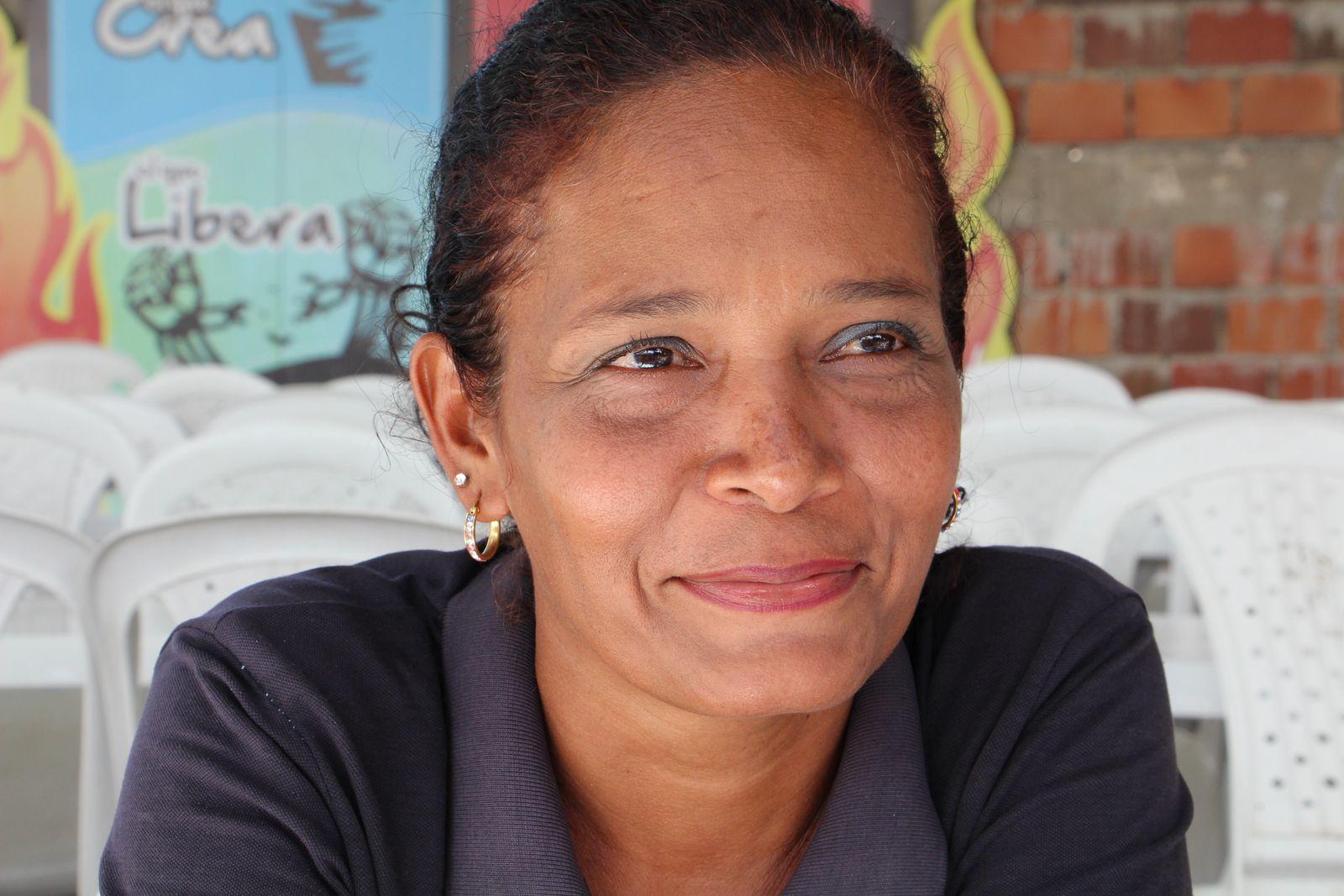 EINMALIGE VERWENDUNG Kolumbien/ Flüchtlinge/ Venezuela/ Grenze/ Frau