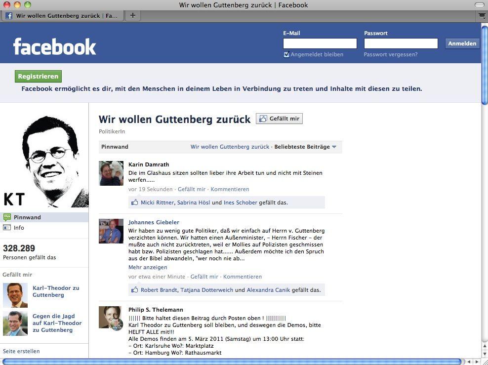 EINMALIGE VERWENDUNG NUR ALS ZITAT SCREENSHOT Facebook / Gutteberg PRO