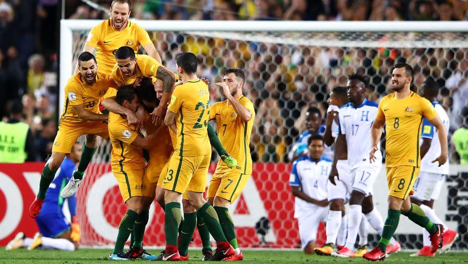 Australiens Fußballer jubeln bei der WM 2018