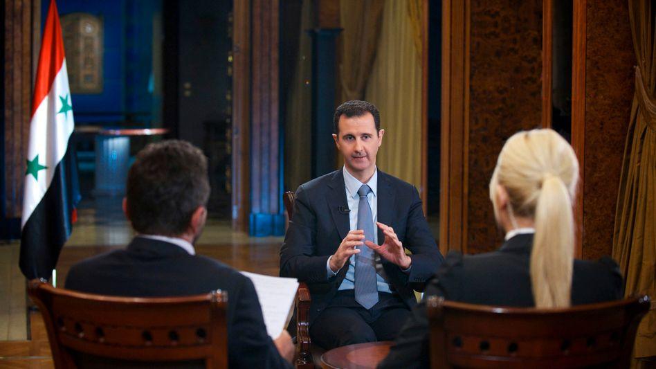 """Syriens Präsident Baschar al-Assad: """"Nach meiner Definition trägt eine politische Opposition keine Waffen"""""""