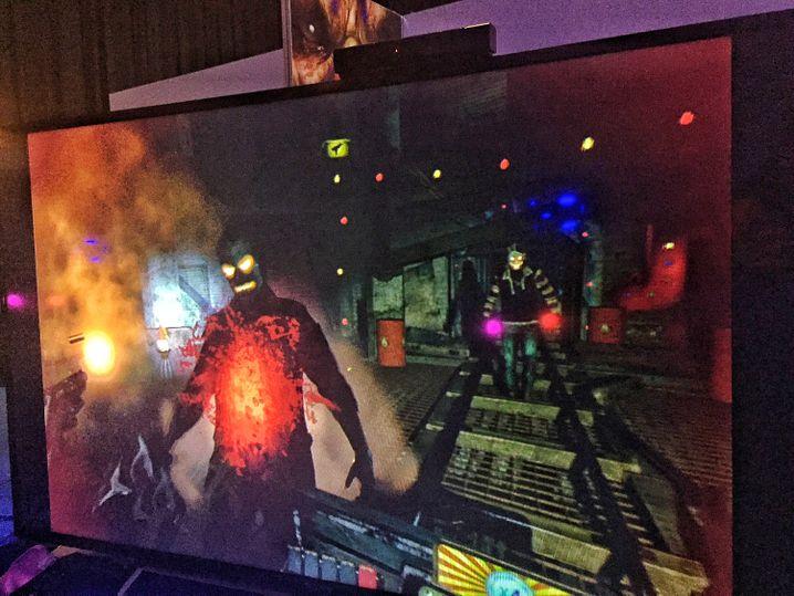 """Playstation-VR-Titel """"Blood Rush"""" (auf einem TV-Bildschirm): Horror in der Geisterbahn"""