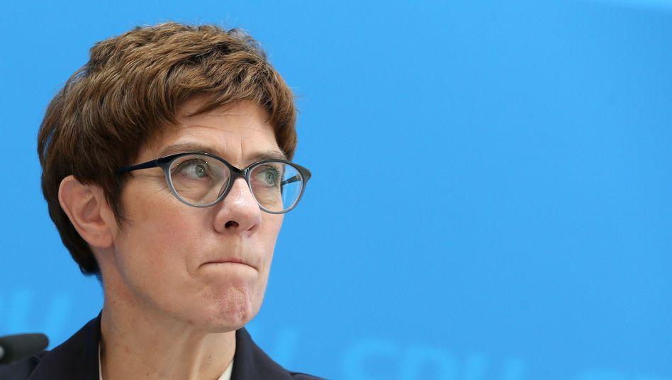 CDU-Generalsekretärin Kramp-Karrenbauer