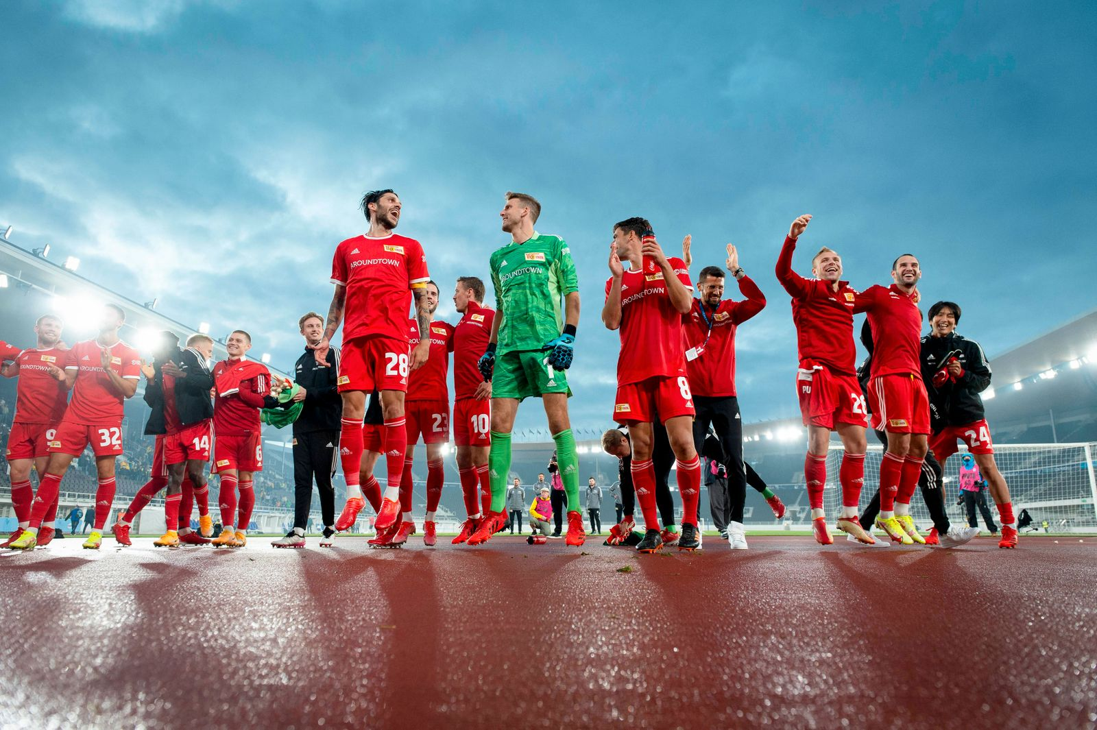 FC Union Berlin after their Uefa Europa conference League Play-offs, 1st leg match between KuPS and FC Union Berlin at