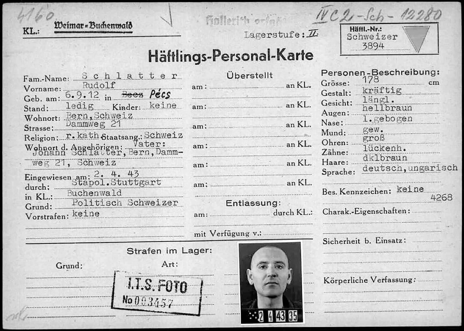 Schweizer KZ-Häftlinge - Schlatter
