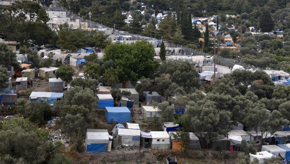 Flüchtlingsbehausungen auf Samos