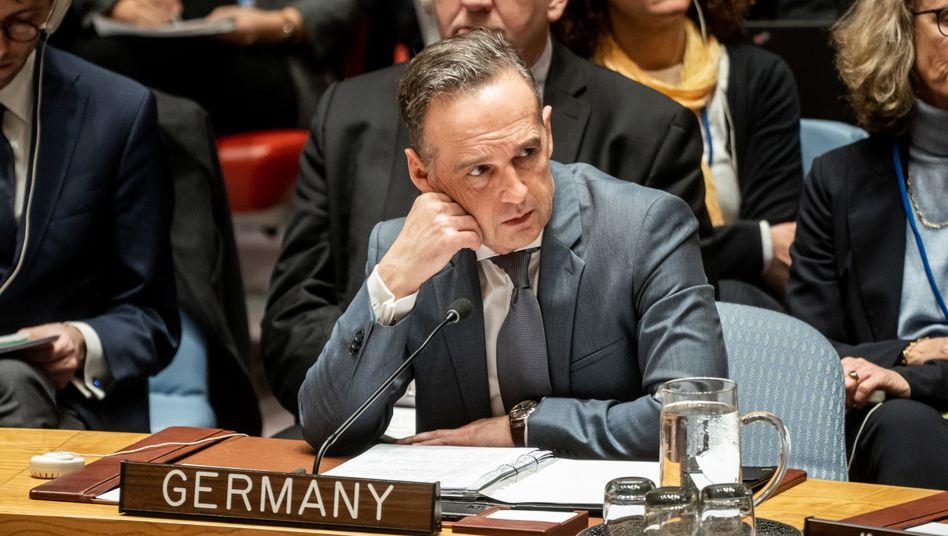 Heiko Maas, Außenminister, im Sicherheitsrat der Uno