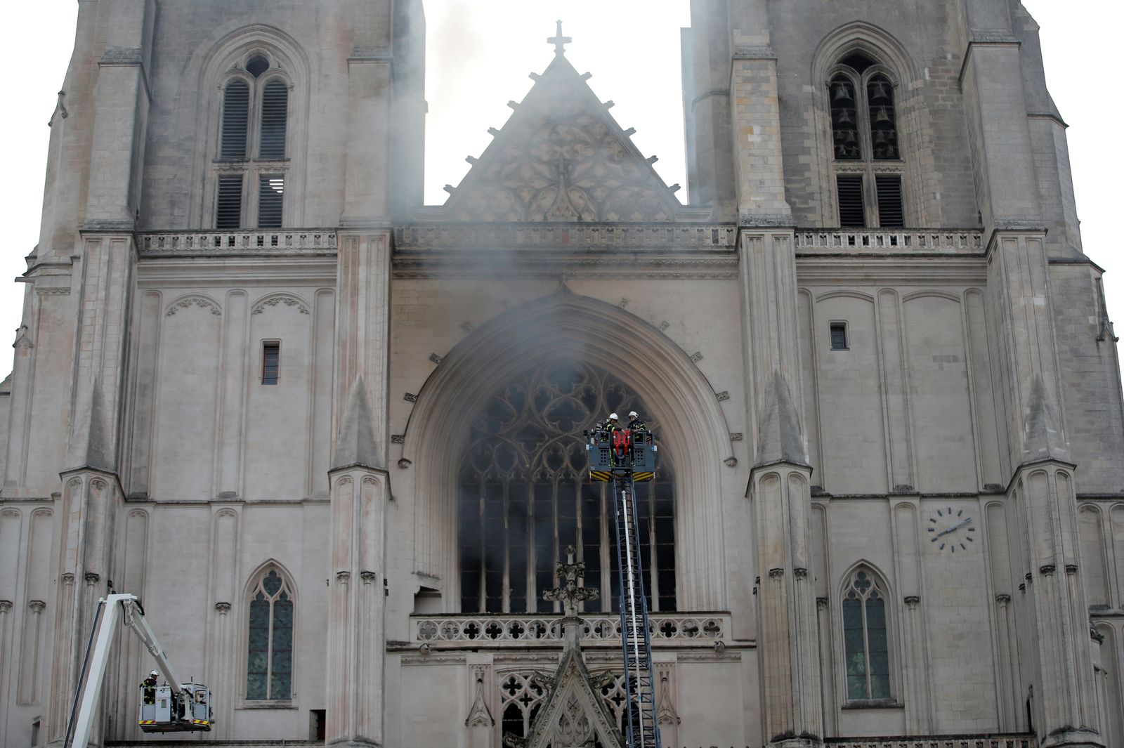 Fire at the Cathedral of Saint Pierre and Saint Paul in Nantes