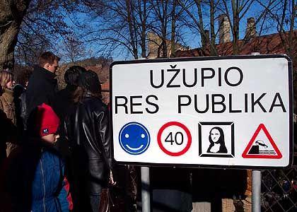 Republik Uzupis: Ein Stempel auf die Hand, schon ist man berechtigt einzureisen