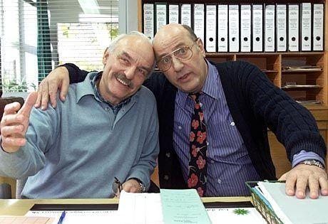 Klassiker: Charles Brauer und Manfred Krug danken im Januar 2001 endgültig ab