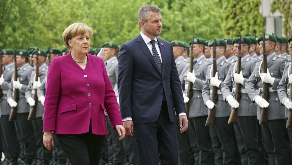 Angela Merkel, Peter Pellegrini in Berlin