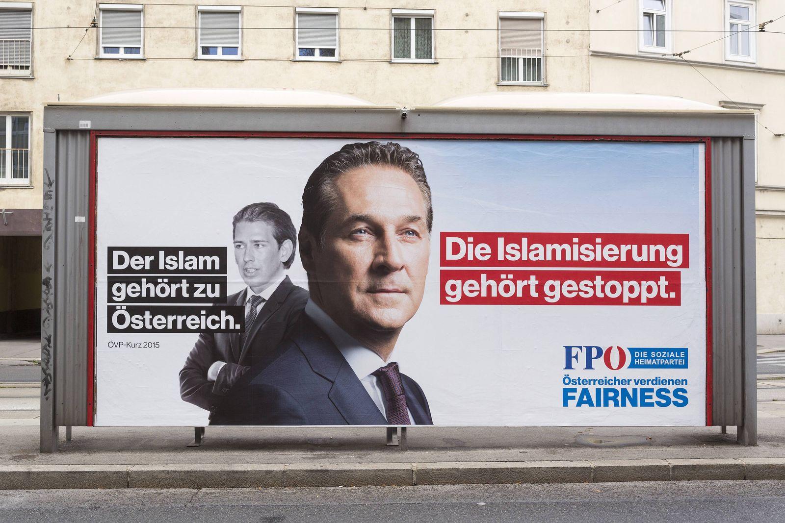 EINMALIGE VERWENDUNG FPÖ Plakat