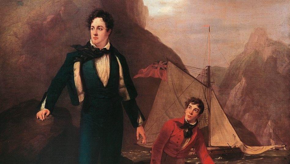 Abenteurer: Mit 21 Jahren brach Lord Byron von England auf, um die weite Welt zu erleben – zunächst fuhr er zu Schiff nach Lissabon (Gemälde von George Sanders, 1807/09)