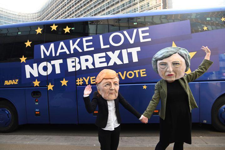 Protest gegen den britischen EU-Ausstieg