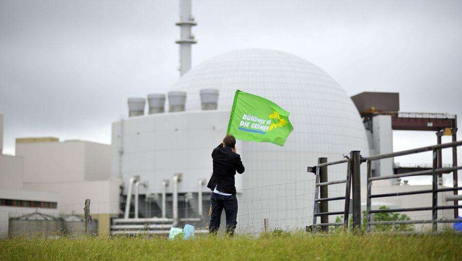 Grünen-Protest vor dem AKW Brokdorf: Wie positioniert sich die Partei zur Energiewende?