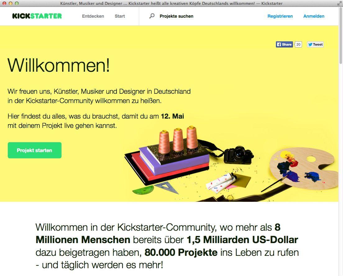 NUR ALS ZITAT Screenshot Kickstarter