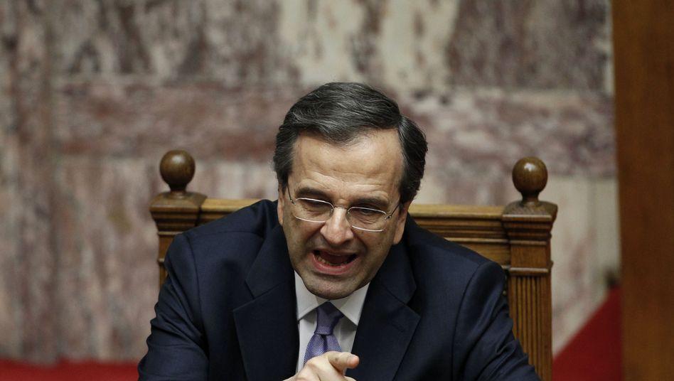 """Samaras im Parlament in Athen: """"Wir müssen die Dinge ändern"""""""