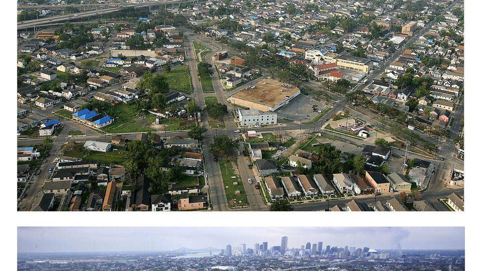 """New Orleans ein Jahr nach Hurrikan """"Katrina"""": Der Klimawandel macht Versicherern Sorgen"""