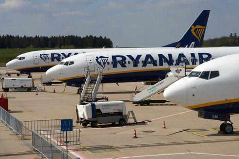 Ryanair-Maschinen am Flughafen Frankfurt-Hahn