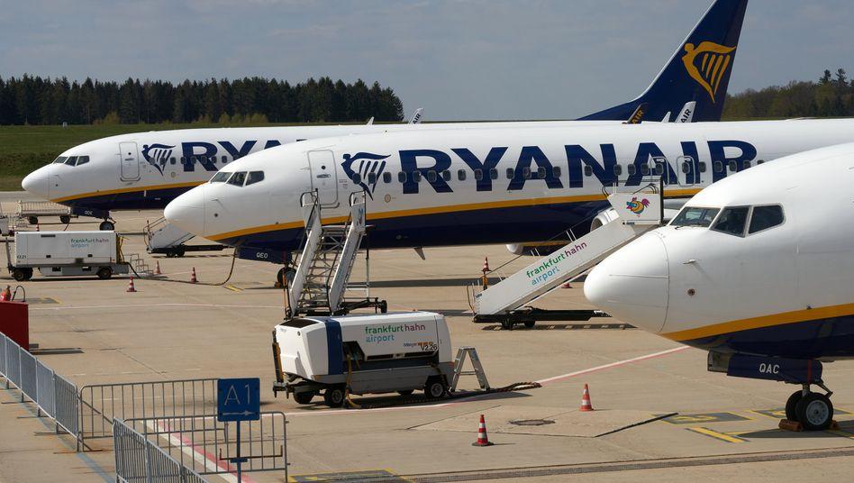 Ryanair-Maschinen in Hahn im April: Das schwierigste Quartal in der Geschichte des Unternehmens