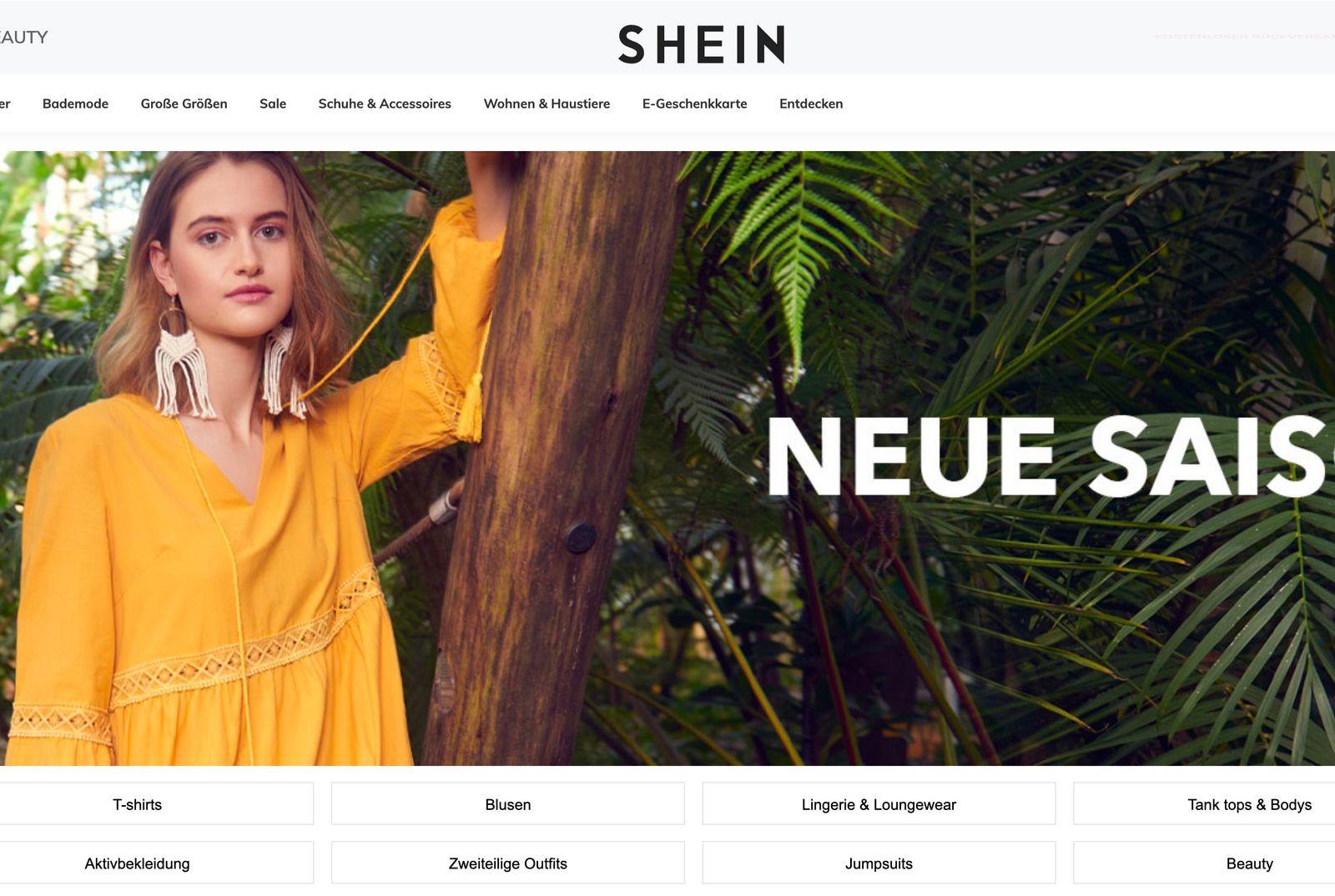 de.shein.com/ screenshot
