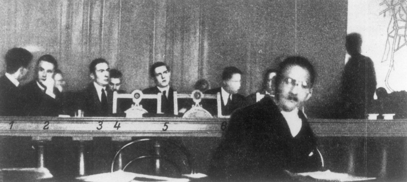 Die Angeklagten im Rathenau-Proze?