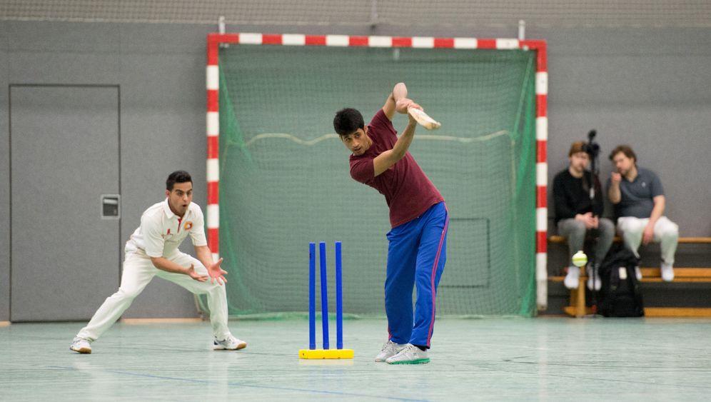 Cricket mit Geflüchteten: Zukunftssport