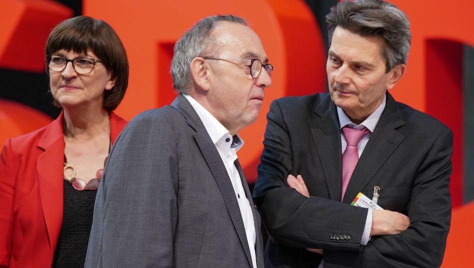 SPD-Parteichefs Esken, Walter-Borjans, Fraktionschef Mützenich: Wer ist GroKo, wer tanzt solo?