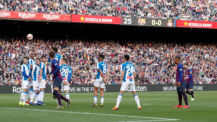 Der entscheidende Freistoß von Lionel Messi