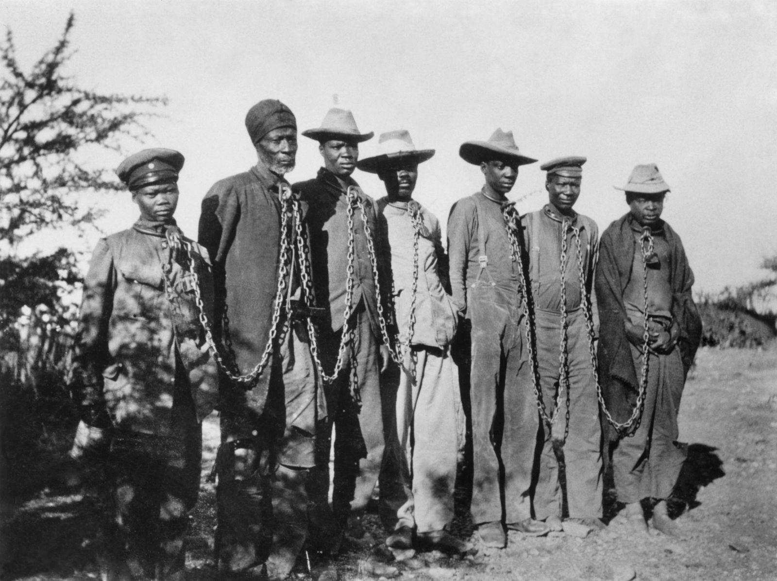 Deutsch-Suedwest-Afrika: Herero-Aufstand 1904: Gefangene
