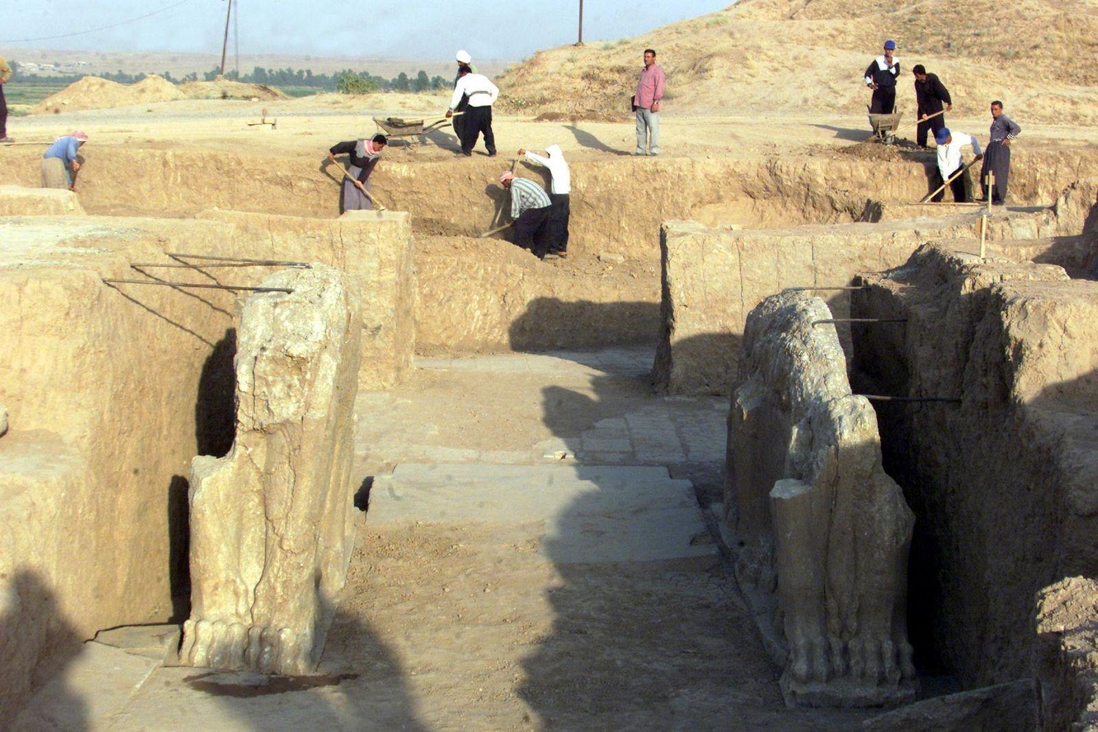 Welterbe Zerstörung durch IS/ Nimrud