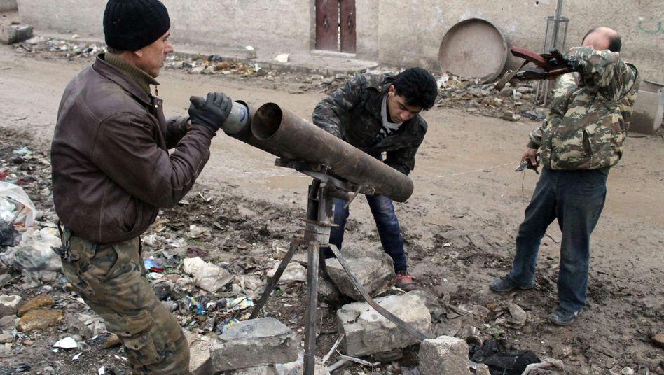 Kämpfer der Opposition in Aleppo: USA finanzieren Rüstungslieferungen