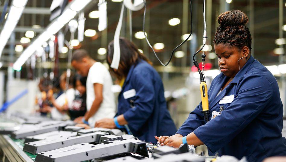Arbeiter in South Carolina (Archivbild): Die Verbraucherpreise in den USA liegen wieder über zwei Prozent