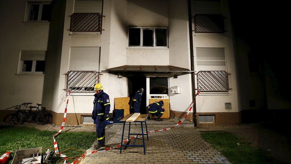 Hessen: Schwerverletzter nach Brand in Flüchtlingsheim