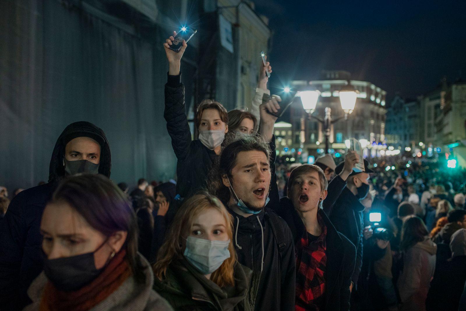 Moskau Protest