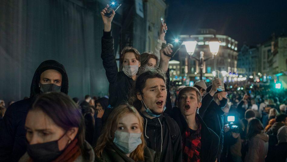 Demonstrierende in Moskau: »Freiheit für Nawalny«